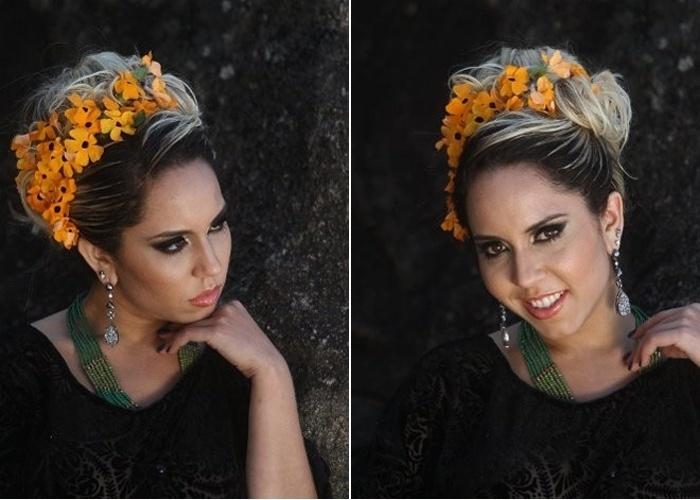 10.mai.2013 - Em ensaio na praia da Barra da Tijuca, no Rio, Renata Frisson, a Mulher Melão, esbanjou ousadia e sensualidade. A modelo também escolheu um look que dispensou calcinha