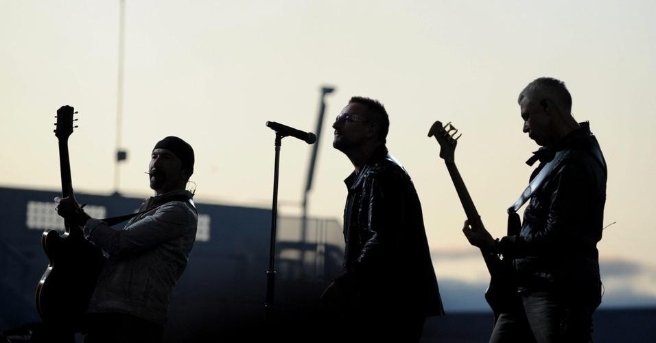 """Vocalista da banda U2, Bono veio com o grupo para o país em 2006, durante a realização da turnê """"Vertigo"""""""