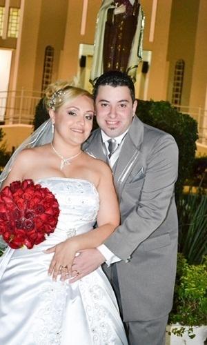 """Fernando Roberto Gallo e Andréa Bianca Faustino Gallo / São Paulo (SP) 30/06/2012. """"O dia mais feliz da minha vida"""", disse Andréa"""