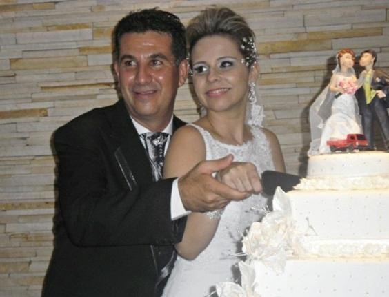 """Marcelo Costa e Letícia Souza / Araraquara (SP) 14/04/2012. """"Um dia esperado e um sonho realizado, de muitos que ainda estão por vir"""", disse Letícia"""