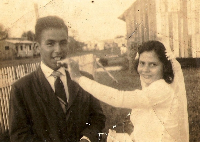 Alberto Rodrigues dos Santos e Izabel Costa dos Santos. 25/05/1962, Benjamin Constant (AM)