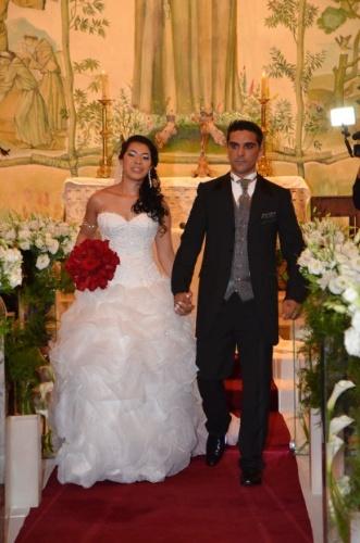 """Anderson e Joyce se casaram em 1º de dezembro de 2012, em São Paulo (SP). """"O dia mais esperado por nós e nossos familiares"""", relata a noiva."""