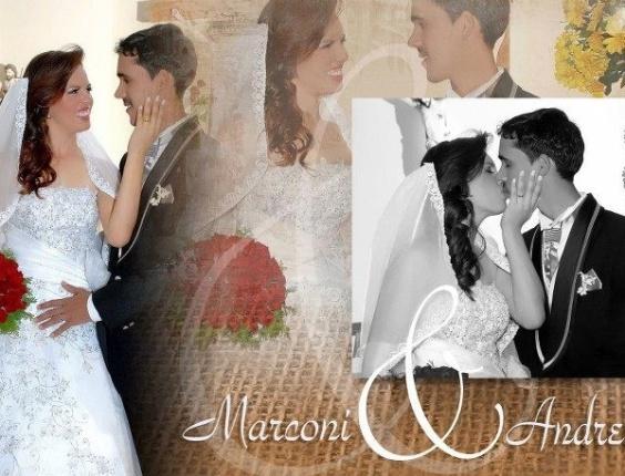 Andreilza e Marconi se casaram no dia 4 de setembro de 2010 na igreja do Bom Conselho, que fica na cidade de Belo Jardim (PE).