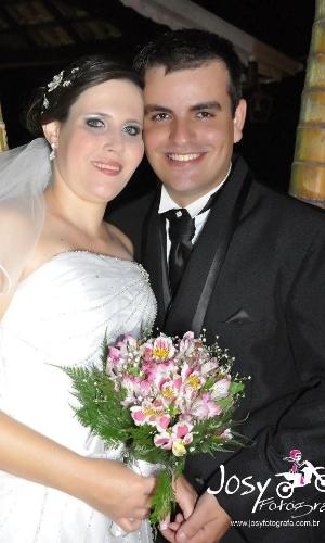 """Murilo e Patricia se casaram em 14 de setembro de 2012. """"Foi o dia mais feliz de nossas vidas"""", relatam os noivos."""