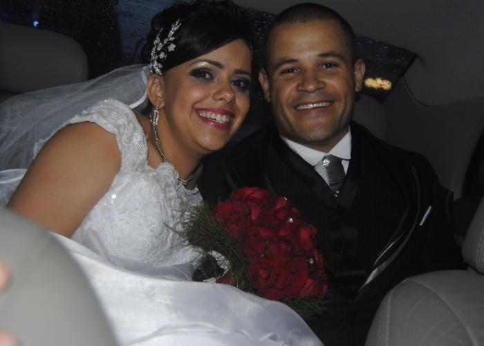 Elizabeth da Silva Barbosa dos Reis e Anderson Ricardo Nascimento dos Reis escolheram a cidade litorânea de São Vicente (SP) para o dia do casamento, que aconteceu em 20 de outubro de 2012.