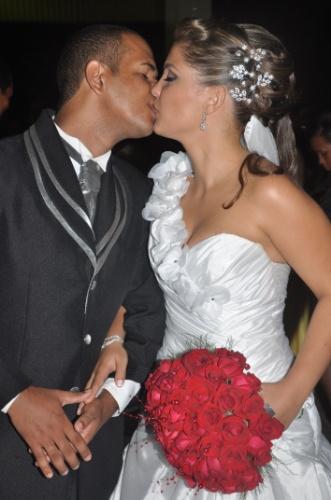 Josenaldo Martins de Oliveira e Jéssica Ferreira Brandão se casaram em Salvador (BA), no dia 7 de janeiro de 2012.