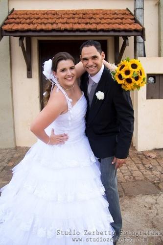O casamento de Juliana e Antonio foi na cidade de Pirassununga (SP), em 1º de dezembro de 2012.