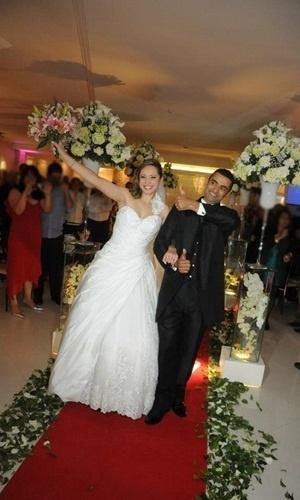 """Diego Azevedo e Miriam Lins Azevedo se casaram em São Paulo (SP), no dia 11 de agosto de 2012. """"Foi um dia inesquecível e muito especial para nós, realizamos o nosso sonho, foi tudo perfeito"""", revela a noiva Miriam."""
