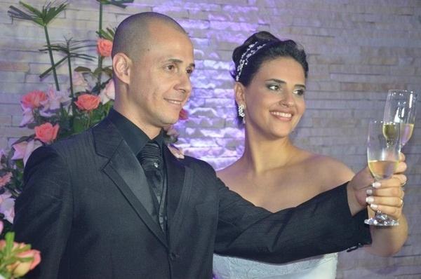 José Carlos da Silva e Glaucia Borges de Paula se casaram em São Paulo (SP), no dia 26 de janeiro de 2013.
