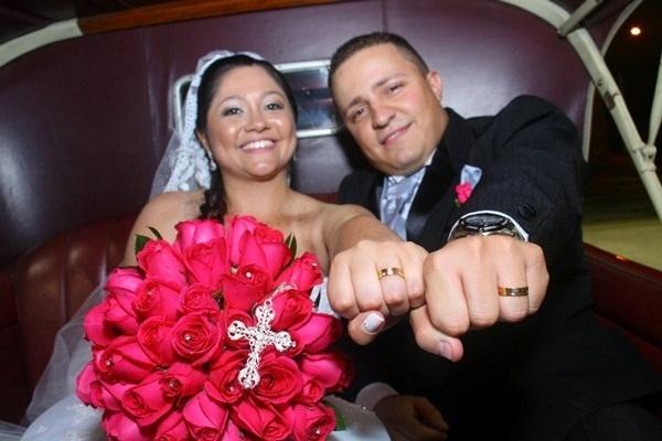 Thiago Ferreira de Souza e Flávia Leite da Silva Souza se casaram em São Paulo capital, no dia 21 de janeiro de 2012.