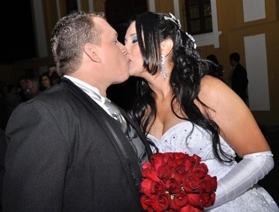 Elaine Teles e Mark Teixeira oficializaram a união em Coronel Fabriciano (MG), no dia 18 de maio de 2012.