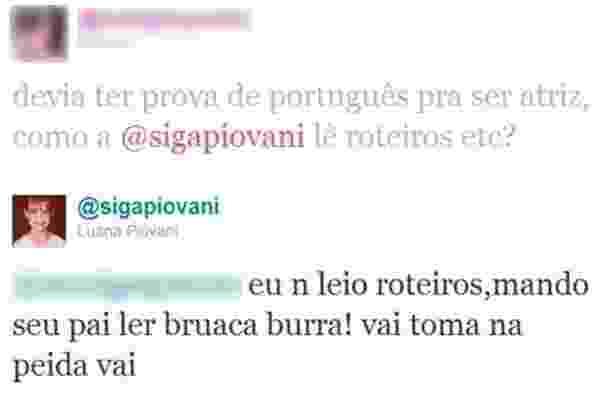 Luana Piovani fechou sua conta no Twitter, que tinha mais de 300 mil seguidores, mas marcou a rede social com uma série de posts polêmicos e respostas ácidas aos usuários da rede. - Reprodução