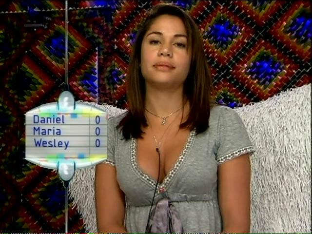 Mesmo formando um casal, Maria votou em Wesley (18/3/11).
