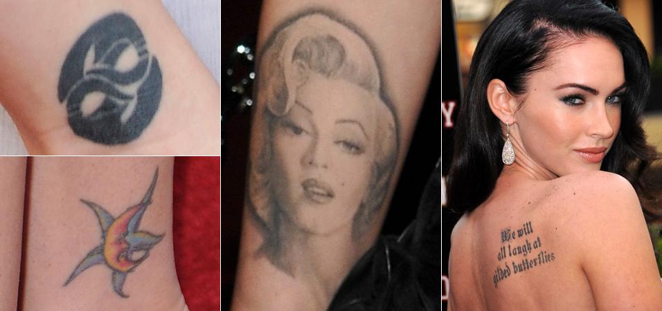 A atriz Megan Fox é fã confessa de tatuagens e tem oito espalhadas pelo corpo. Disse certa vez que se o namorado não tiver nenhuma, exige que tatue seu nome ou seu rosto. A citação