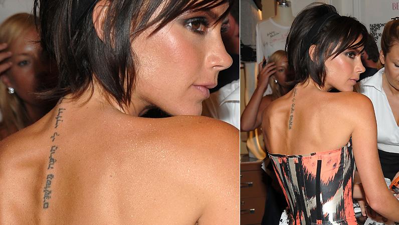 A tatuagem em hebraico de Victoria Beckham simboliza a cumplicidade entre ela e o marido David Beckham