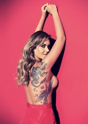 A modelo e apresentadora Luize Altenhofen exibiu na revista