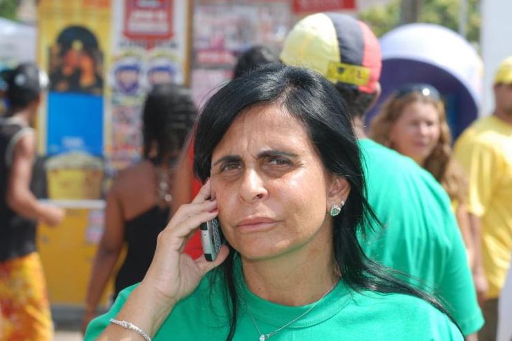 Gretchen em foto de 2008, quando foi candidata à prefeitura de Itamaracá (PE) pelo PPS