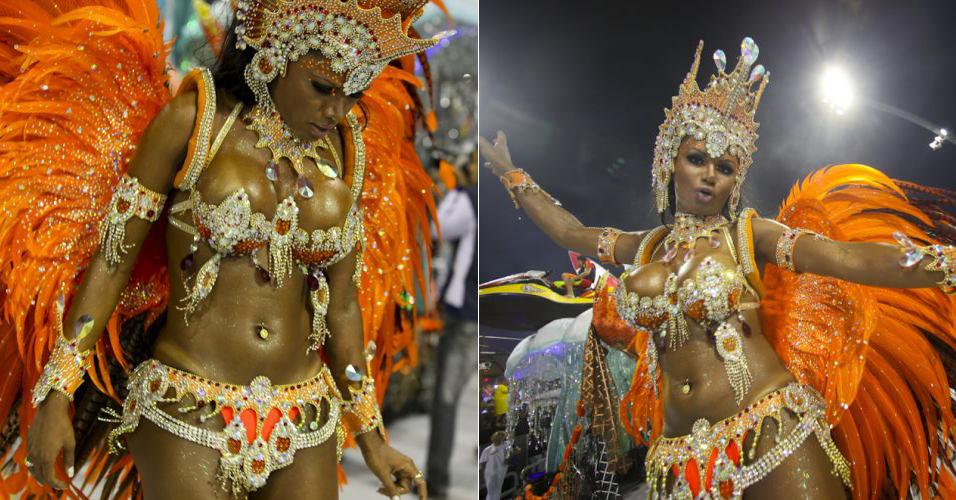 A modelo Dani Sperle, no desfile da Tom Maior (fevereiro/2011)