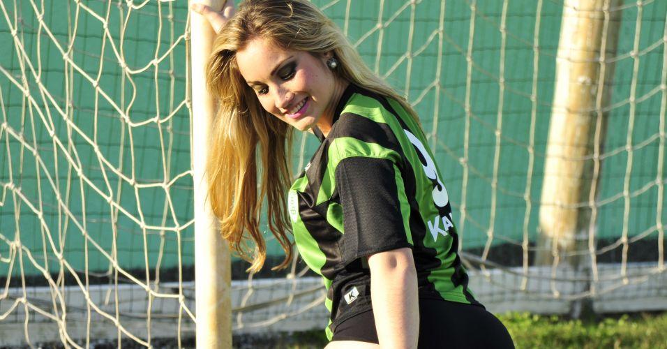 Raissa Ávila, gata do América-MG, só tem uma vitória entre as Gatas do Brasileiro.
