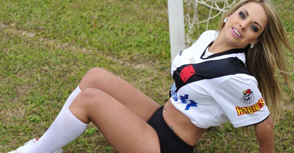 Jéssica Lopes é a musa que estampa o time do Vasco. Participe da votação 'Gatas do Brasileiro' de UOL Esporte.