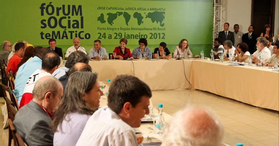 Quinta-feira (26/1) - A presidente Dilma Rousseff participa de encontro com o Comitê Internacional do Fórum Social Mundial, em Porto Alegre (RS)