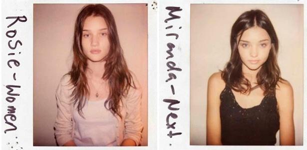 Quarta-feira (8/2) - O diretor de casting (elenco de modelos) Douglas Perrett acaba de lançar o livro 'Wild Things', com fotos Polaroid de tops sem maquiagem, antes de se tornarem famosas. Nas imagens do diretor, modelos como Rosie Huntington-Whiteley e Miranda Kerr aparecem em imagens feitas entre 2000 e 2010.