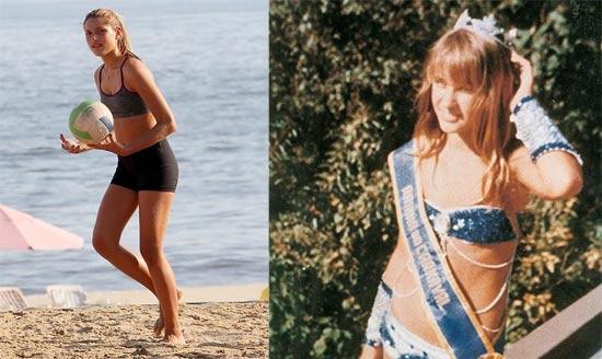 Sexta-feira (17/2) - Xuxa divulgou foto de quando foi rainha do Carnaval aos 13 anos, em 1976. A imagem revelou semelhanças com a filha (à esq.) também aos 13.