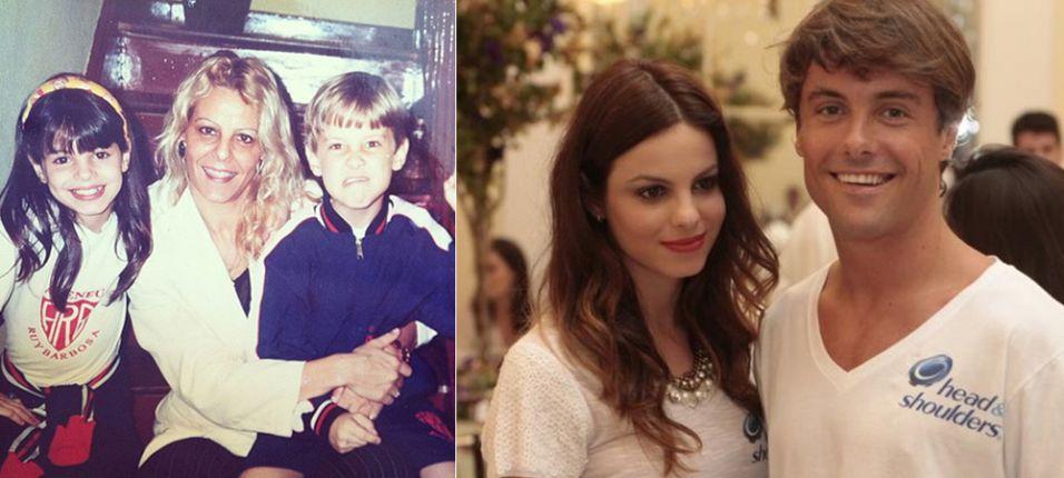 Quarta-feira (22/2) - A atriz Sthefany Brito postou uma imagem da infância ao lado da mãe, Sandra, e do irmão, Kayky Britto. No Twitter, a intérprete de Alice, da novela 'A Vida da Gente', mostrou saudosismo: 'Parece que foi ontem!'.