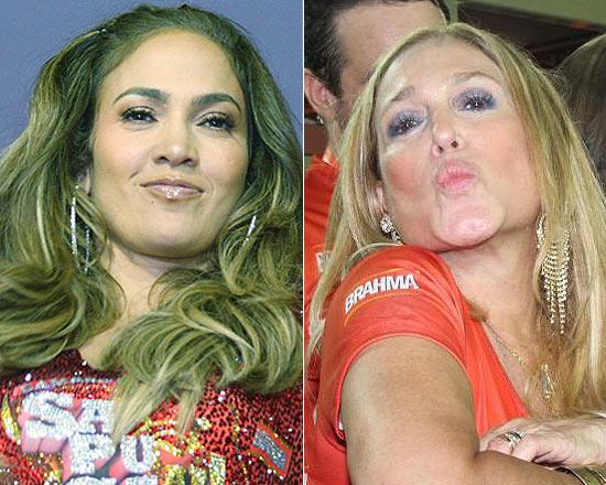 Quinta-feira (23/2) - No dia em que a cantora Jennifer Lopez, 42, circulou na Sapucaí, no Rio, a atriz Susana Vieira, 69, comentou: