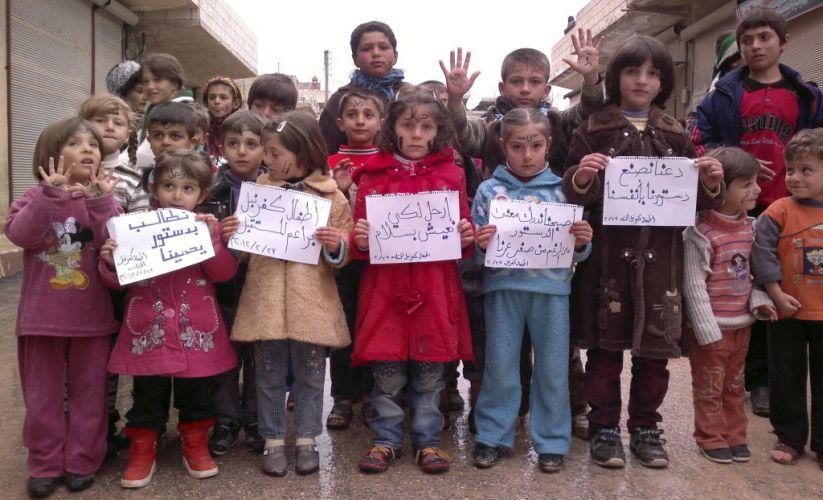 Crianças contra Assad