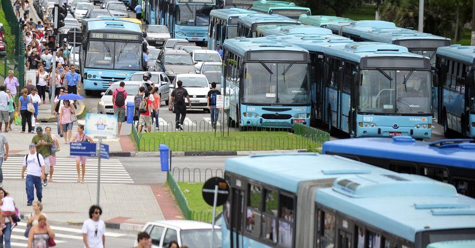 Paralisão de ônibus em SC