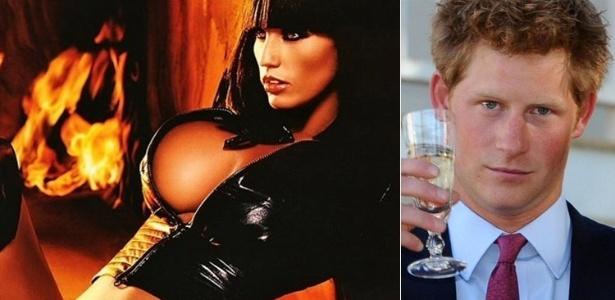 Quinta-feira (8/3) - Em uma entrevista para o jornal 'Daily Mirror', a modelo britânica Katie Price, também conhecida como Jordan, disse que deixaria o príncipe Harry passar creme em sua pele. Após a reportagem perguntar a Katie o que a fazia se sentir sexy na praia, ela afirmou: 'Você não pode rejeitar uma passada de óleo de bebê, deitada nua, derramando à vontade'. Sobre quem gostaria que esfregasse o óleo nela, a modelo insinuou que gosta de um certo ruivo da realeza. Quando perguntada se tinha visto o príncipe Harry na imprensa recentemente, disse: 'Eu não diria não a um pouquinho de ruivo'.