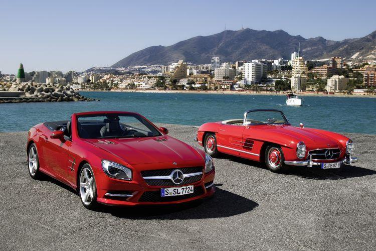 Quinta-feira (15/3) - O Mercedes-Benz SL chega à sua sexta geração e adota o novo visual da marca, inspirado no clássico SLS AMG. Linhas charmosas da carroceria exibem proporções clássicas, com um desenho que lembra uma versão maior do roadster SLK.