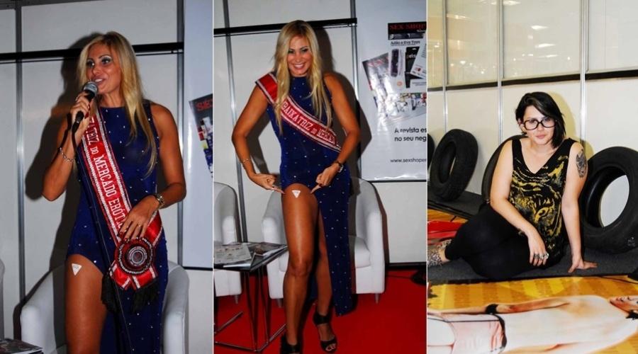 Sexta-feira (23/3) - A apresentadora e modelo Ângela Bismarchi foi nomeada a 1ª Embaixatriz do Mercado Erótico no Brasil, na abertura da 19ª edição da Erótika Fair, ocorrida na quinta-feira (22/3) . O evento, realizado no Palácio das Convenções do Anhembi, em São Paulo, traz para o público as principais novidades do mercado adulto de 2012. A Erotika Fair também contou com a presença da ex-BBB Mayara, que trabalha numa produtora de filmes pornô.